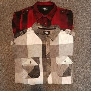 Rock & Republic 2 men's long sleeve shirts XL